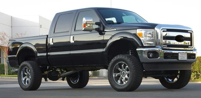 These 2 Super Duty S Feature Readylift 6 1 Inch Lift This Will Fit Up To 38 Tires